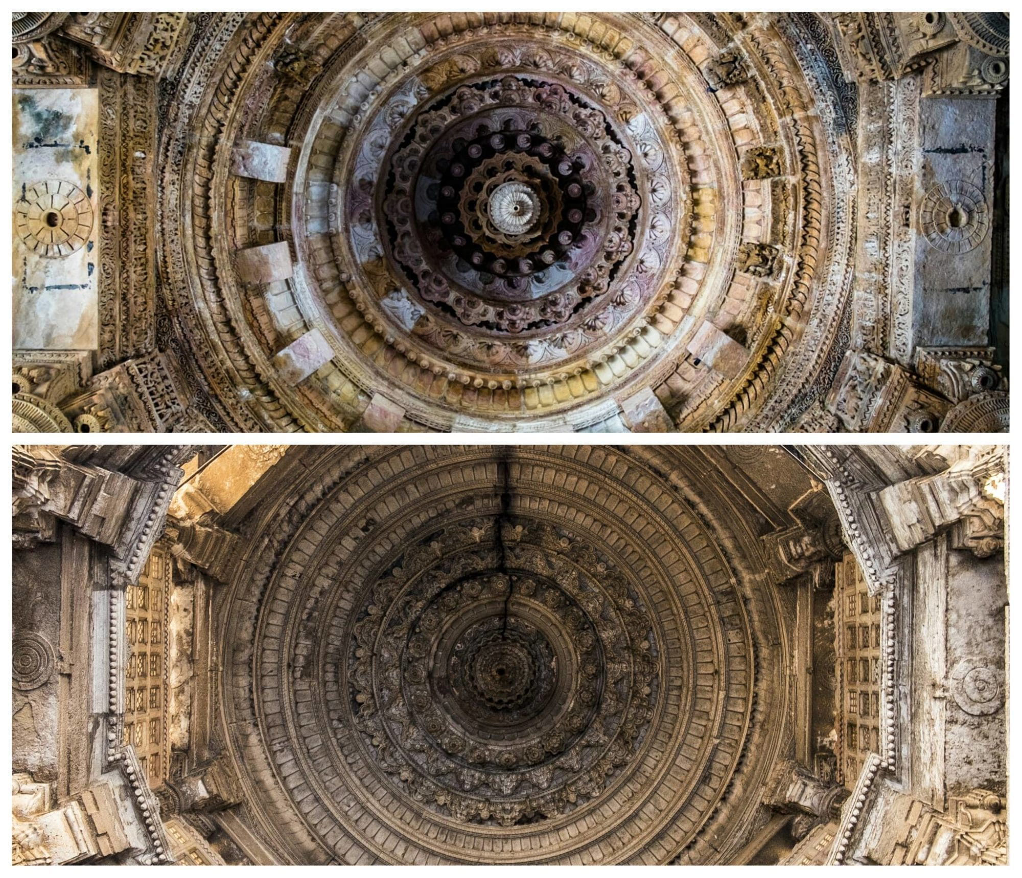 Roof of the Modhera Temple and Jama Masjid, Ahmedabad
