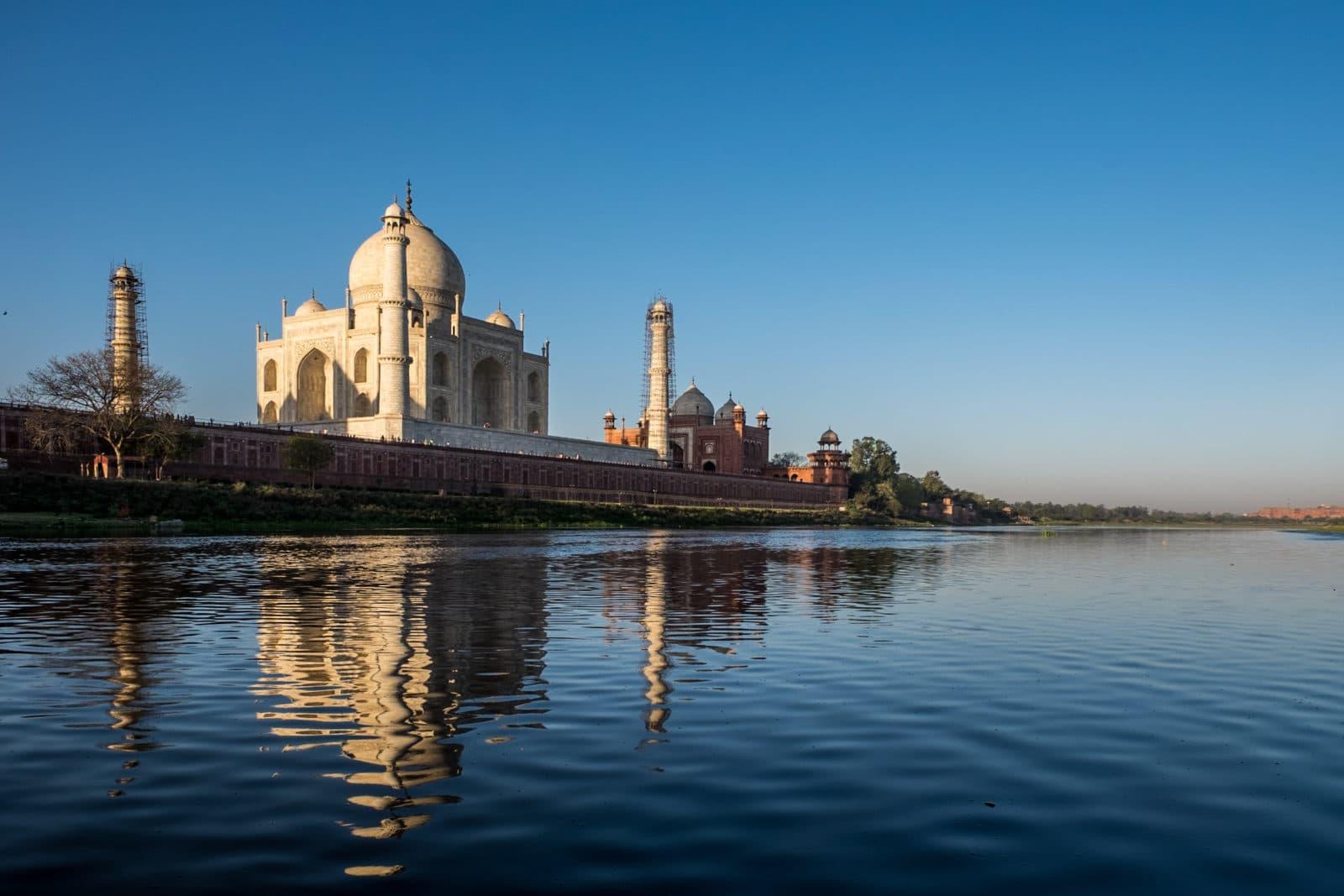 Taj Mahal from the Yamuna.