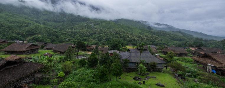 Panorama of Bam village