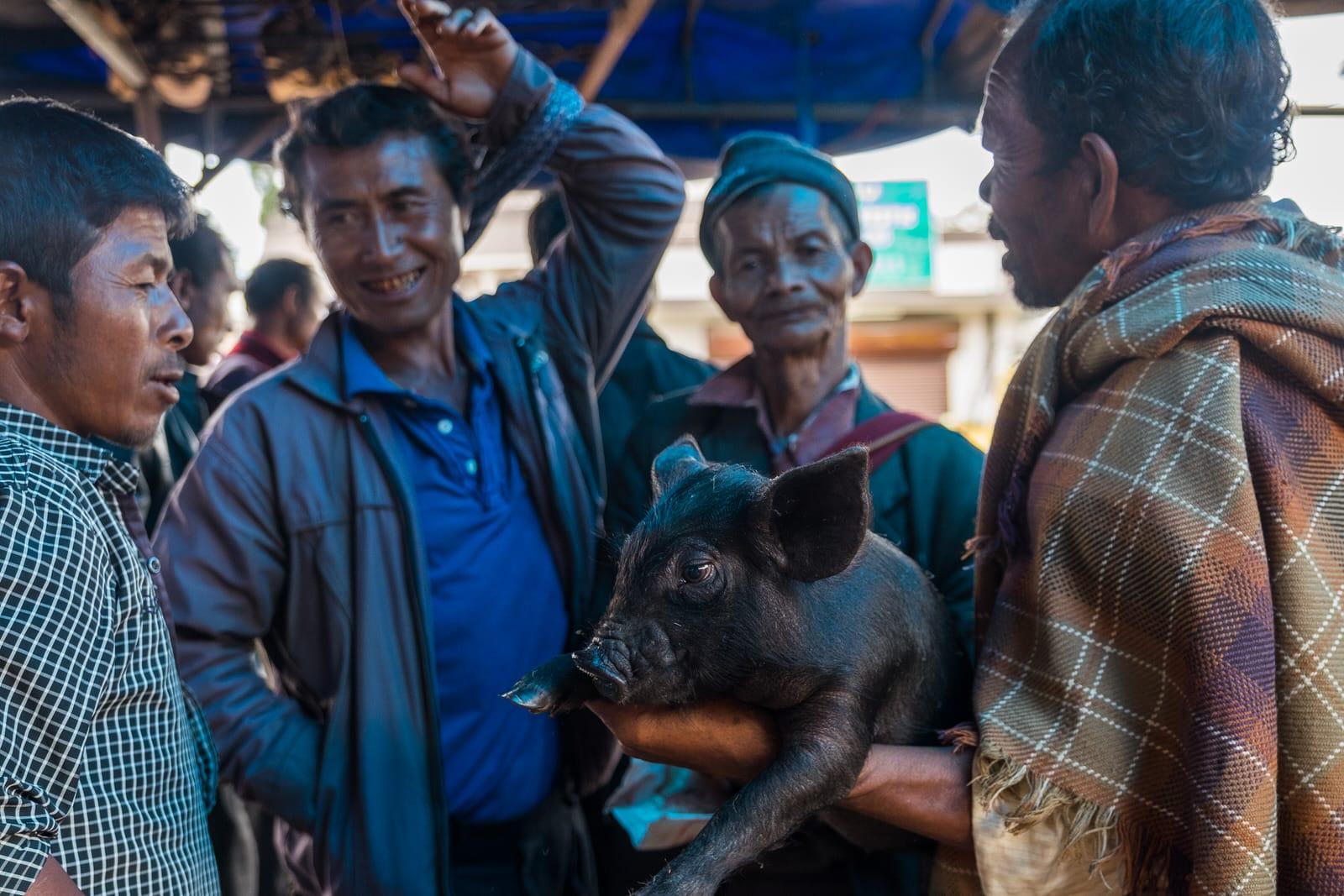 Pig market shillong