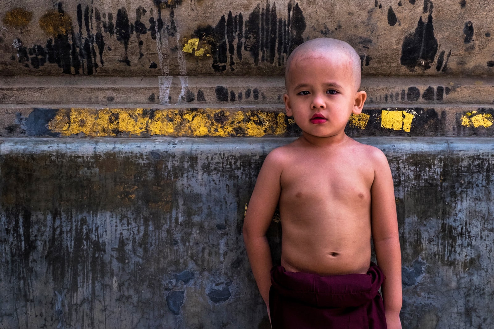Young monk, bodhgaya, bihar