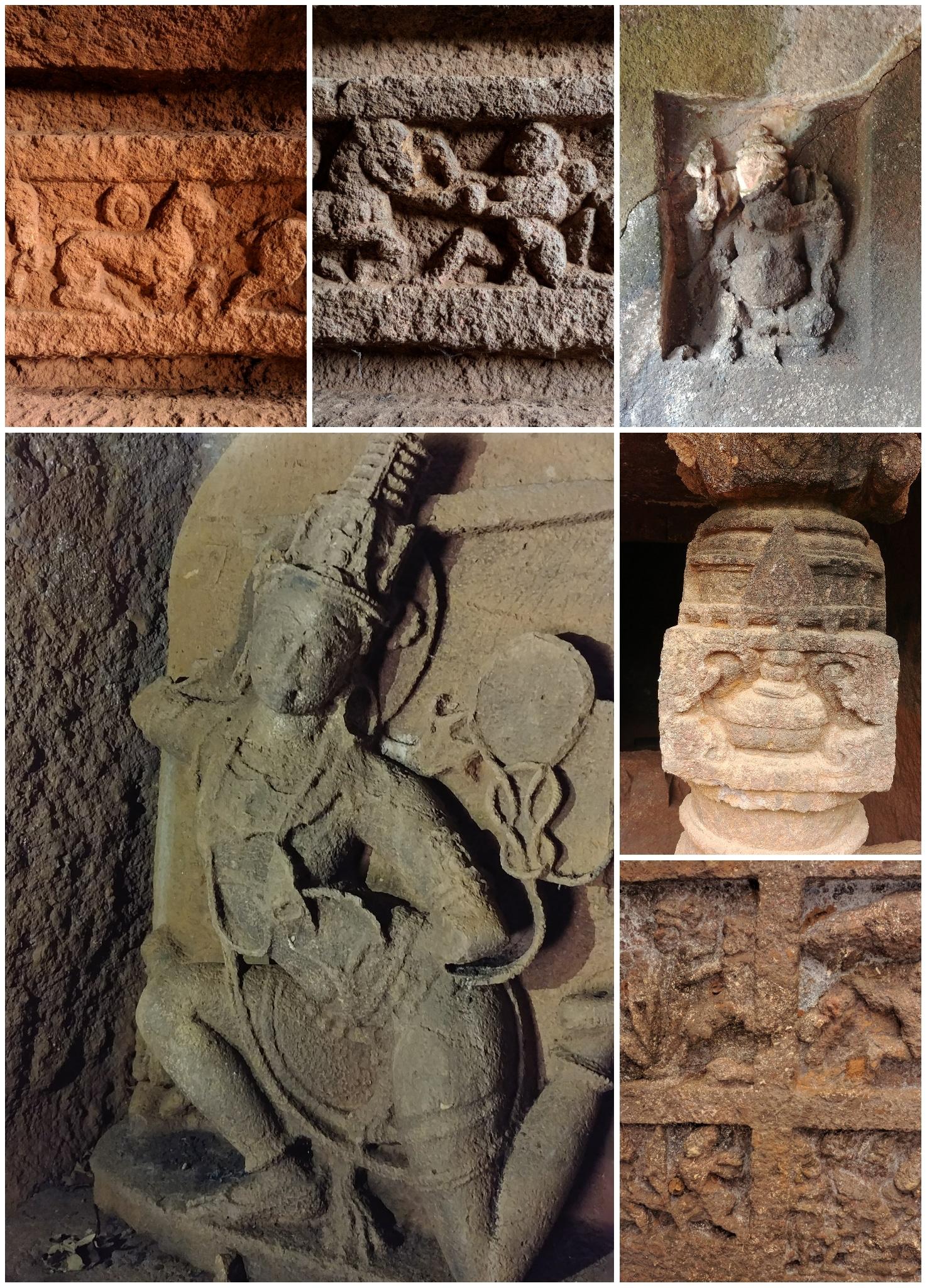 Panhalkazi buddhist jain hindu caves
