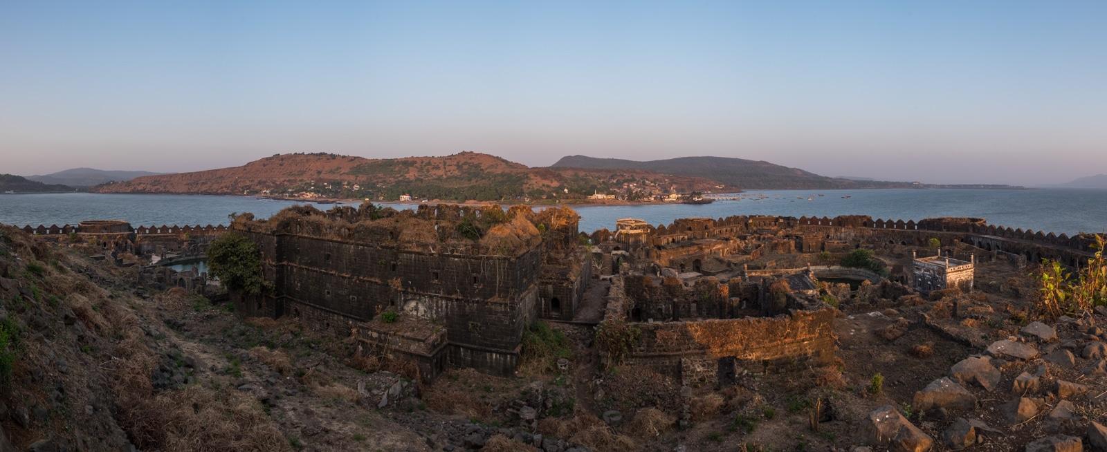 Murud Janjira fort panorama