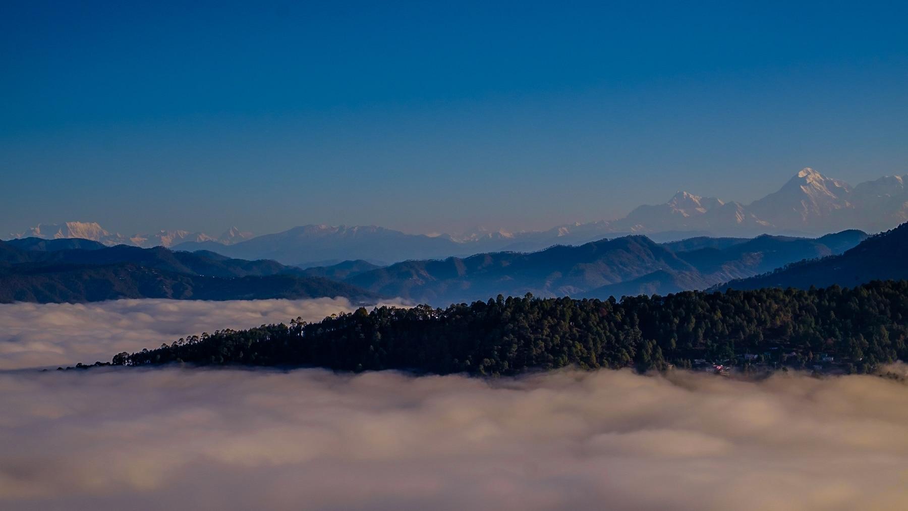 Almora mountain view