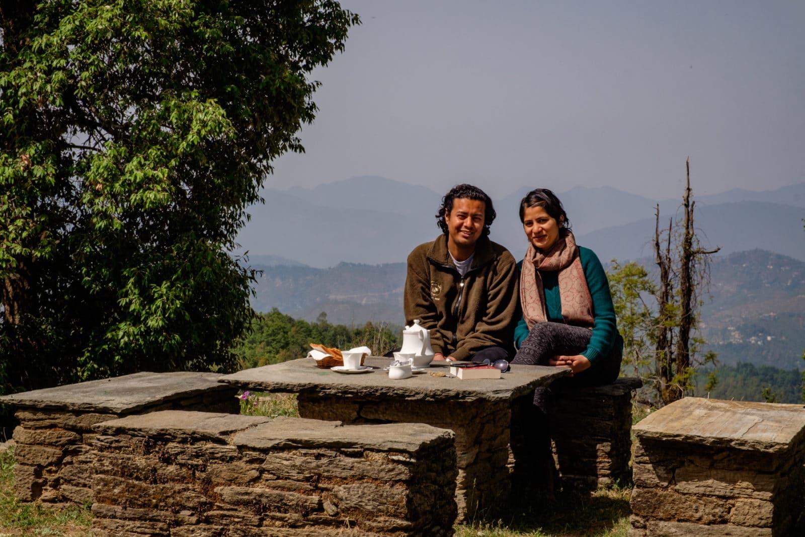 Shikha & Sindhu Gangola at the Grand Oak Manor, Binsar