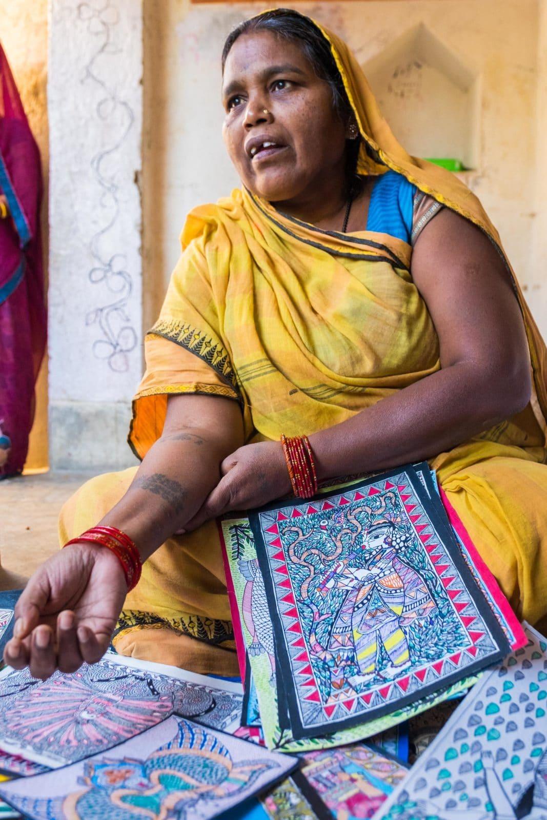 Dulari Devi, Madhubani artist, Ranti village